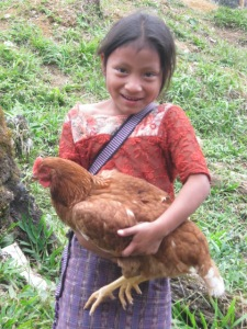 Girl-and-chicken